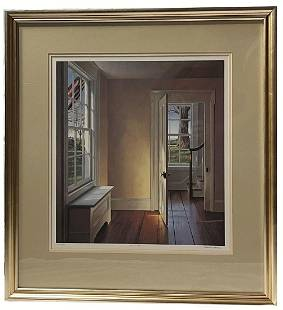 """Edward Gordon LE 627/790 """"Front Stairs"""" Lithograph"""