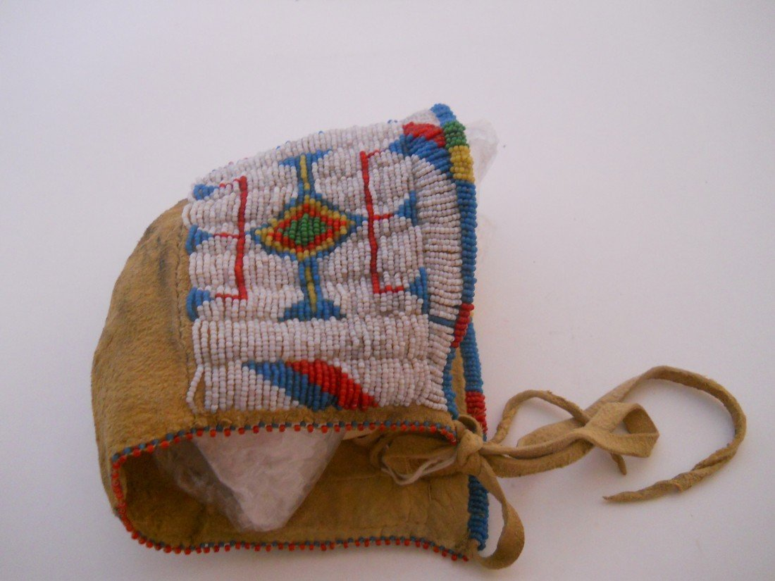 5: SEED BEADED SIOUX INFANT BONNET