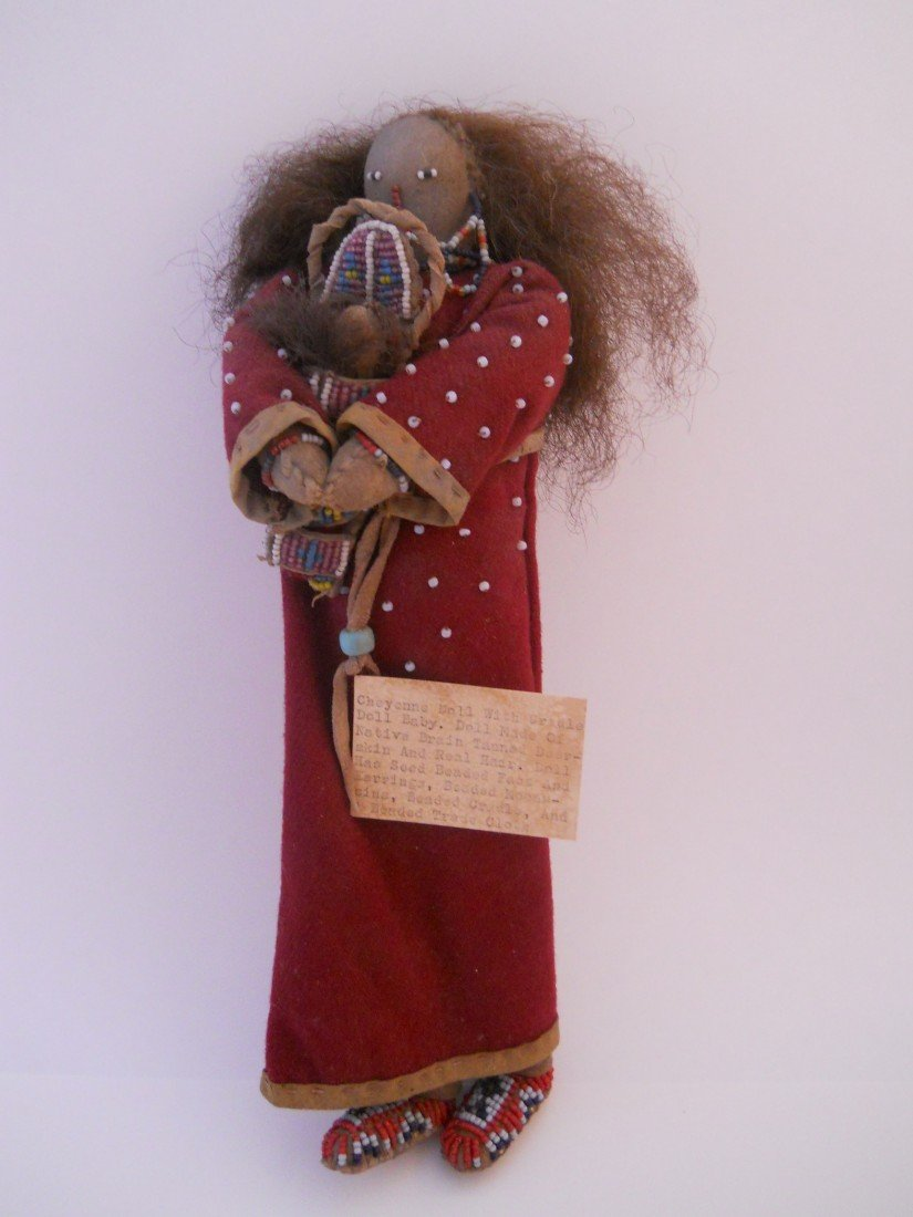 7: CHEYENNE DOLL WITH BABY CRADLE