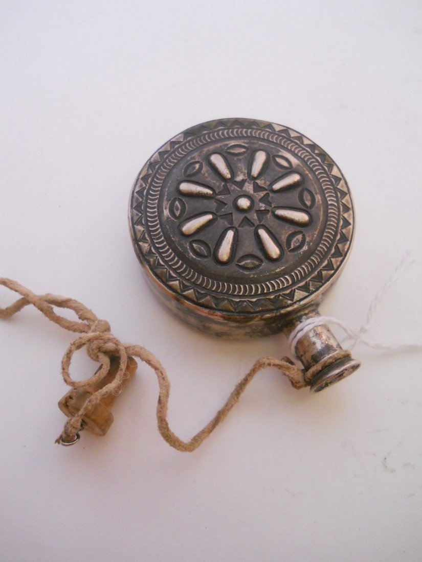 22: STERLING SILVER PEYOTE CANTEEN