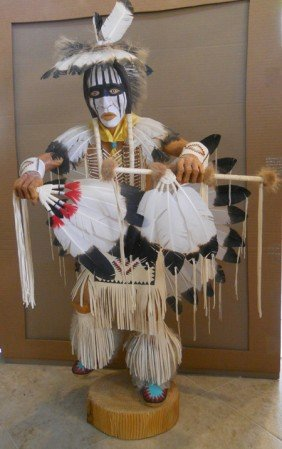 109 XLARGE KACHINA SIGNED CHEE JIM,40 INCHES TALL