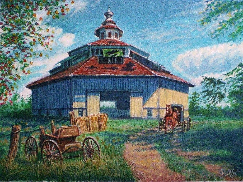 "139: RAFFI JACOBIAN ""AMISH COUNTRY"" WATERCOLOR"