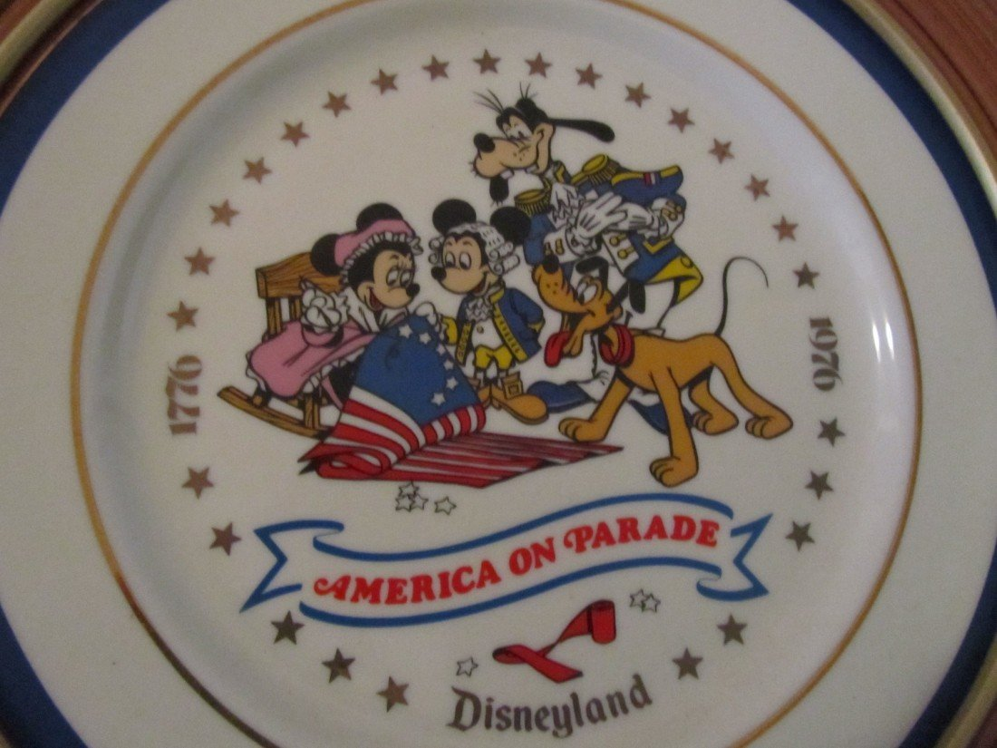 92: DISNEY, AMERICA ON PARADE, FRAMED CHINA PLATES LOT - 3