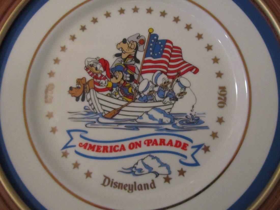 92: DISNEY, AMERICA ON PARADE, FRAMED CHINA PLATES LOT - 4