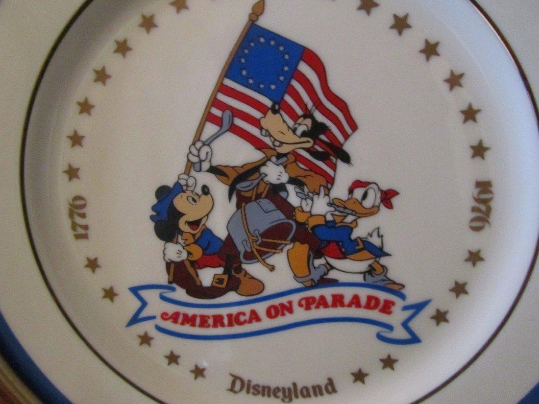 92: DISNEY, AMERICA ON PARADE, FRAMED CHINA PLATES LOT - 5