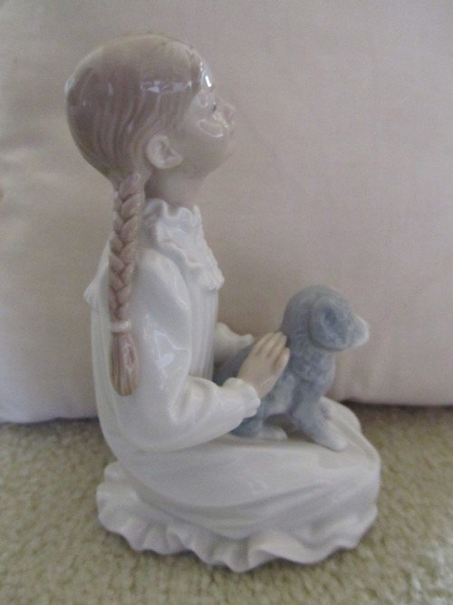 464: NAO BY LLADRO, GIRL WITH PUPPY PORCELAIN, NUMBERED - 2