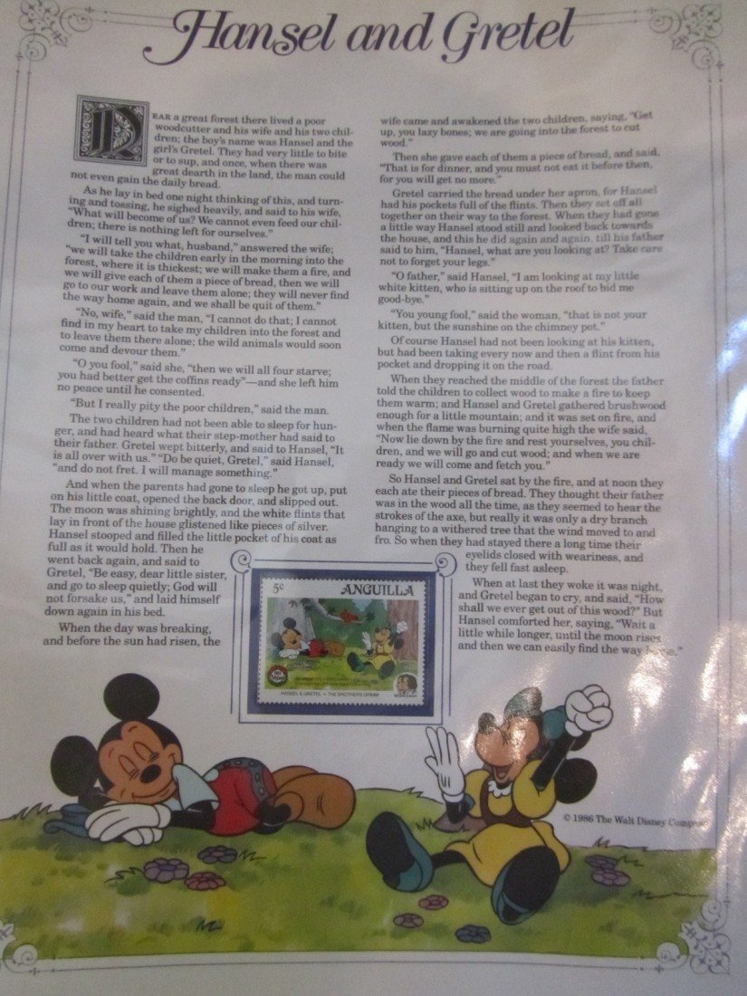 659: DISNEY GRIMM'S FAIRY TALES STAMP PANEL COLLECTION - 4