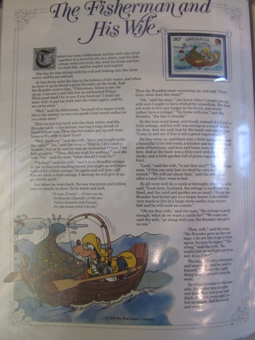 659: DISNEY GRIMM'S FAIRY TALES STAMP PANEL COLLECTION - 7