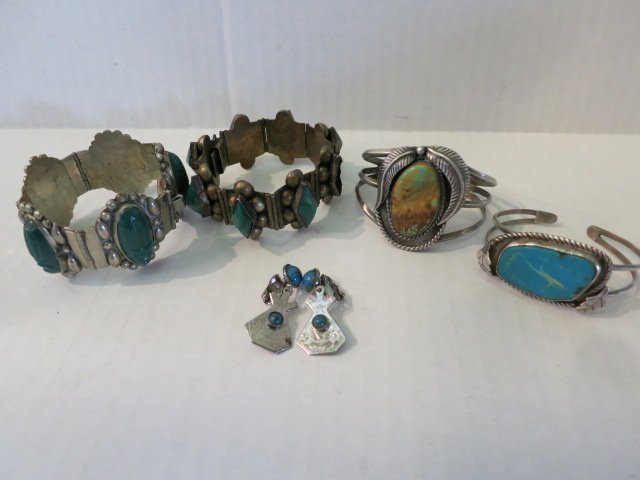 6: JEWELRY LOT, STERLING SILVER, TURQUOISE
