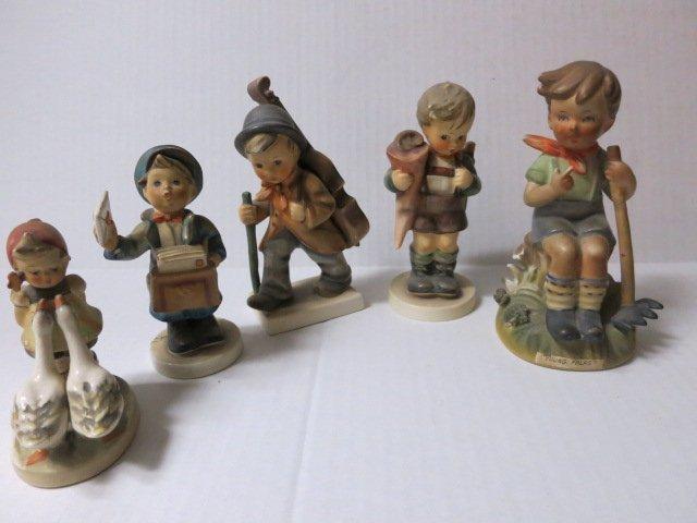 9: HUMMEL, GOEBEL GERMANY, HUMMEL LOT 5pc