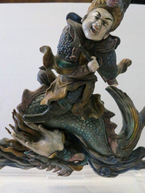 16: ORIENTAL CHINESE WARRIOR POLYCHROME WARRIOR/DRAGON
