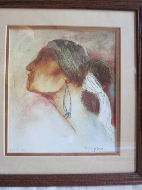 9: DOUBLE SIGNED R.C GORMAN ,NATIVE WOMAN