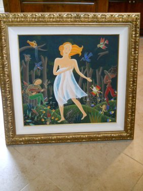 "PAINTING ""WOOD NYMPH"" SIGNED BY MCKNIGHT COA"