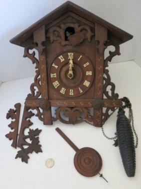 94: ANTIQUE BLACK FOREST CUCKOO CLOCK,NEEDS WORK