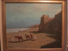 SAUDI ARABIAN OIL ON CANVAS,SIGNED