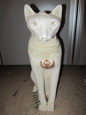 """141: EGYPTIAN CAT 24"""" CERAMIC"""