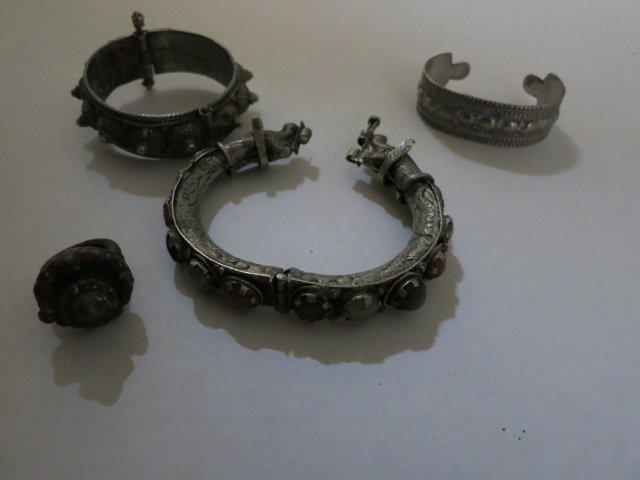 148: ANTIQUED METAL CUFFS /BRACELET,RING LOT