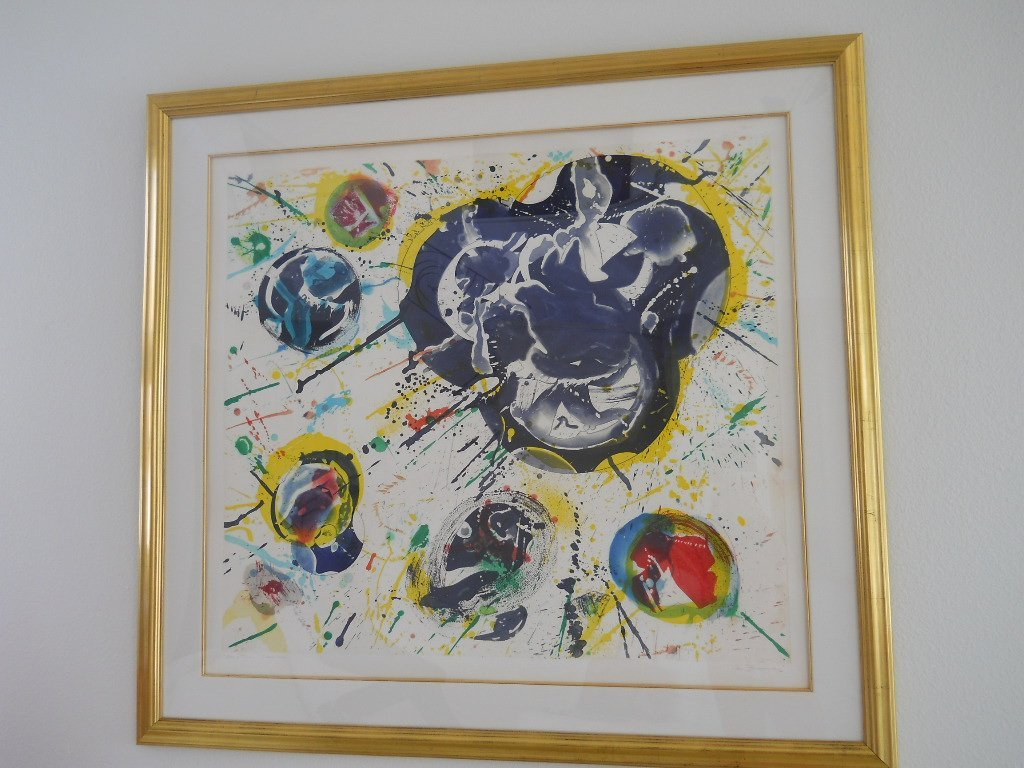 "333: SAM FRANCIS PENCIL SIGNED ""BON A TIER"" 1982"