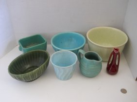 MIXED VINTAGE POTTERY LOT 7PC,HAEGER