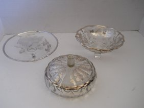 STERLING SILVER INLAY BOWLS 4PC