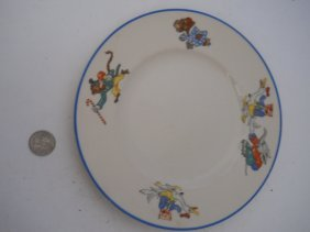 OLD IVORY SYRACUSE ,NURSERY RHYMES PLATE