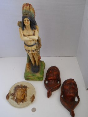 NATIVE AMERICAN CHALKWARE COLLECTION 4PC