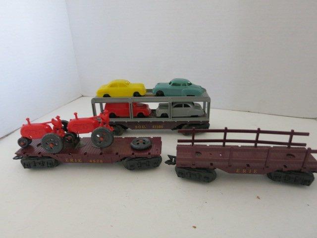 171: VINTAGE TRAIN CAR SET, HAULER CARS, 3pc