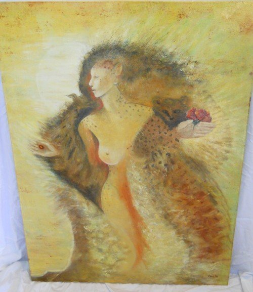 205: OIL PAINTING ON CANVAS BY PAMELA