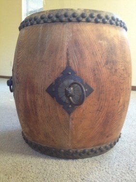 "1: JAPANESE DRUM 19"" TAIKO DRUM ,EARLY 1900s"