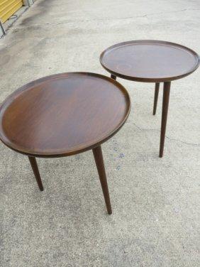 523: VINTAGE DANISH TEAK LAMP TABLES,1950s,DEMARK SELIG