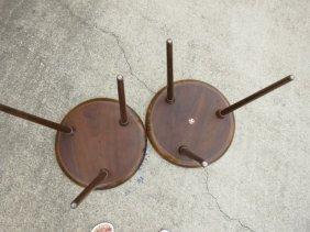 523: VINTAGE DANISH TEAK LAMP TABLES,1950s,DEMARK SELIG - 2