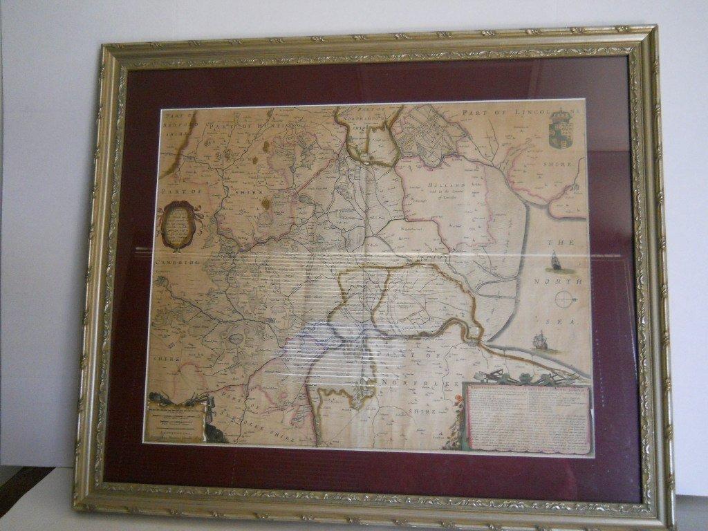 2: 1632 ANTIQUE MAP,AMSTELODAMI SUMPTIBUS HENRICI HONDI