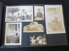 289: ANTIQUE LEATHER BOUND PHOTO ALBUM W/ PHOTOS