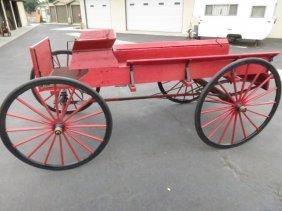 8: LATE 1800s HORSE DRAWN MARKET WAGON,RESTORED