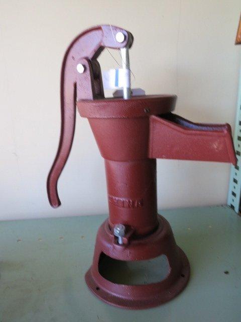 21: RED CAST IRON PITCHER PUMP