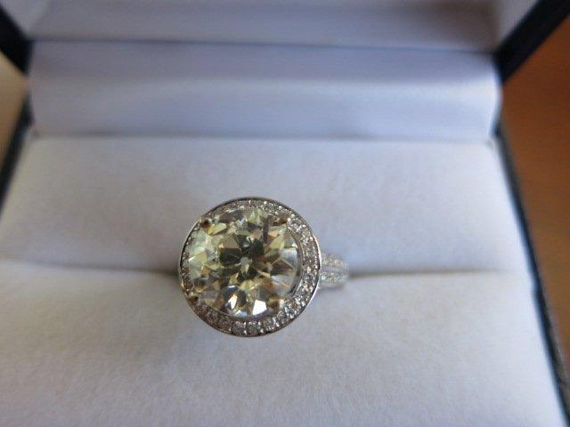 58: ANTIQUE DIAMOND RING ,EUROPEAN MINE CUT DIAMOND