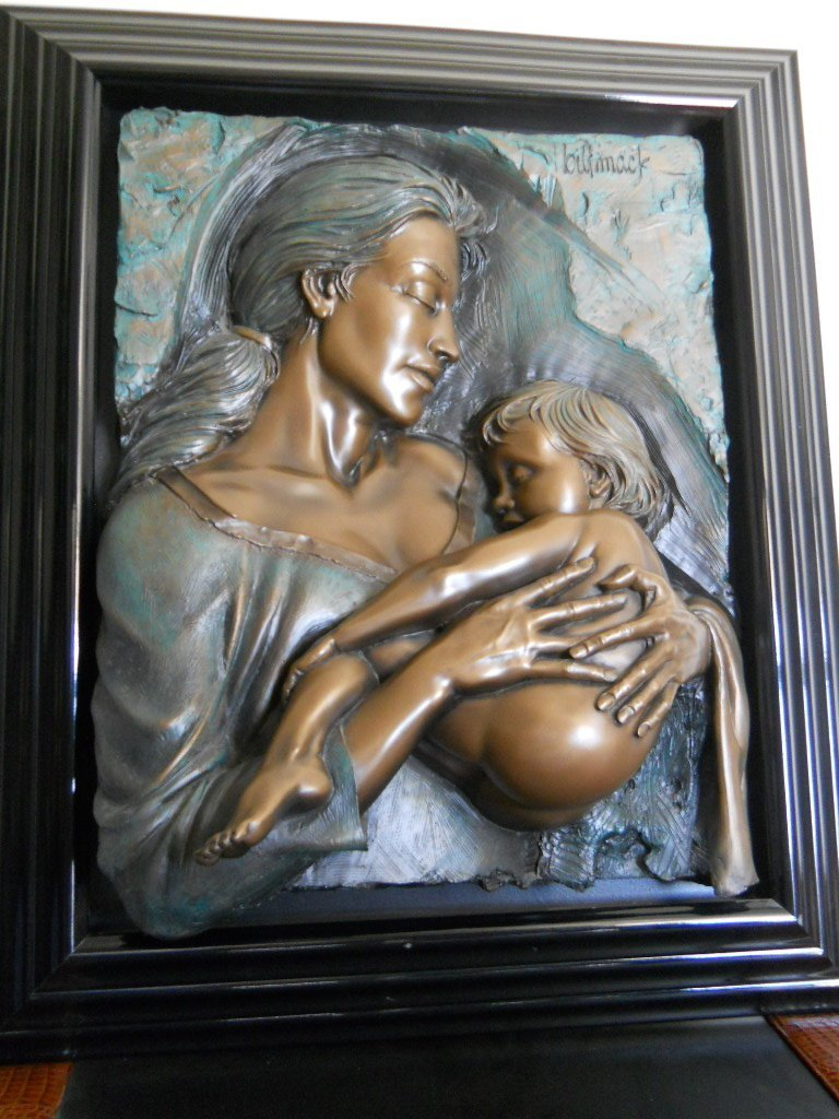 "2: BILL MACK BONDED BRONZE ""DEVOTION"" 12/75,COA"