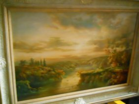 4: OIL ON CANVAS,SIGNED,DUCK POND