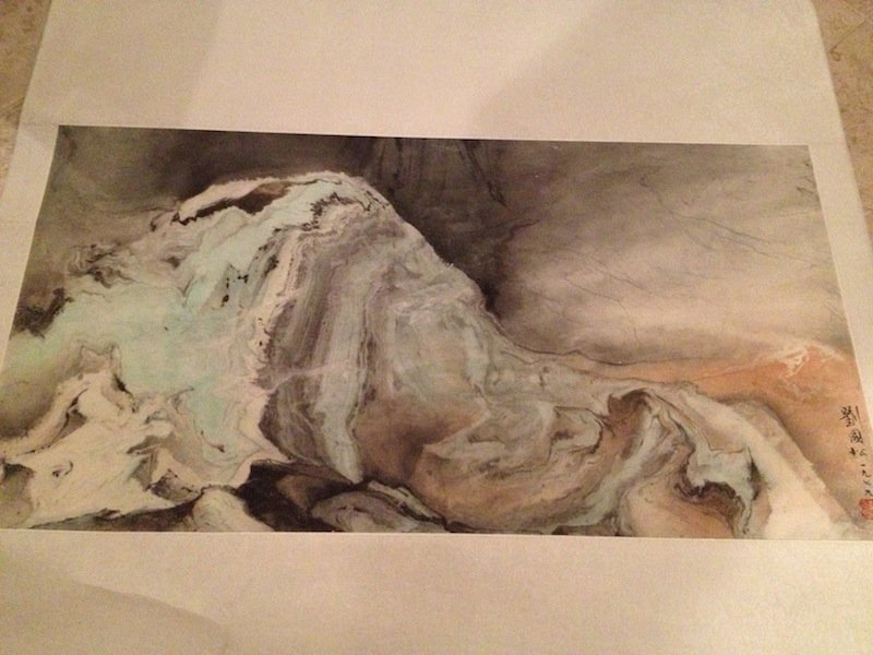 6: ORIGINAL1979 LUI KUO-SONG MIXED MEDIA PAINTED SCROLL