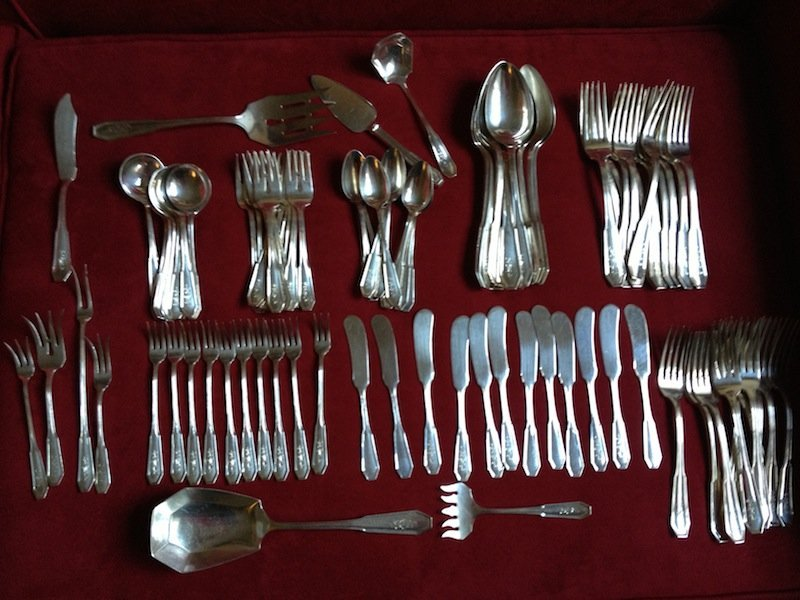 20: 103 PC,STERLING SILVER SET,MISC SERVERS 123.4 OUNCE
