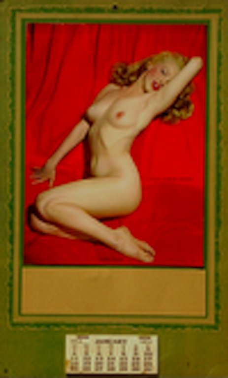 68: 1953 MARILYN MONROE SALESMAN CALENDAR GOLDEN DREAMS