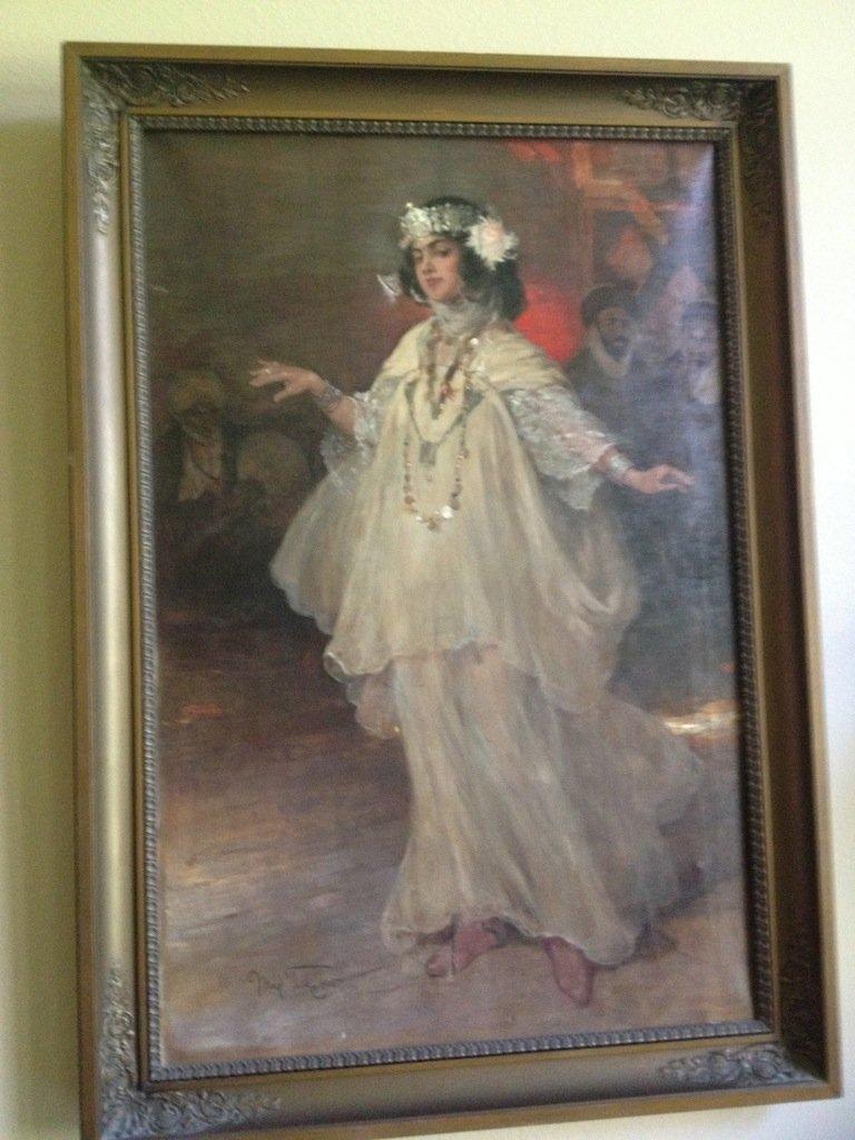 1905 MAX TILKE ARTIST,ARABIAN GIRL ,OIL