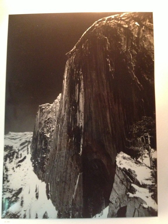 THE FACE OF HALF DOME ANSEL ADAMS