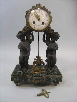 Antique Cherub Clock