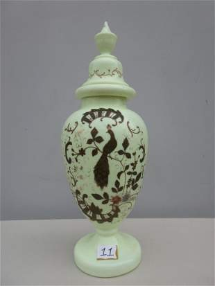 Jadeite Vase with Peacock