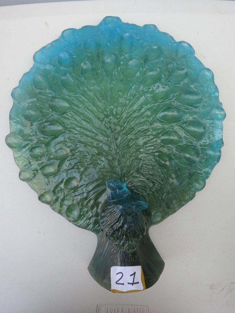 A Daum Signed/numbered, Art Glass Peacock.. Rare