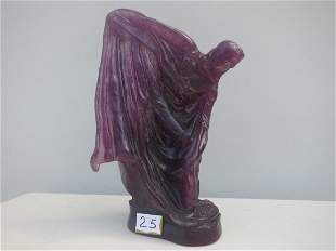 Daum France Art Glass, Purple signed
