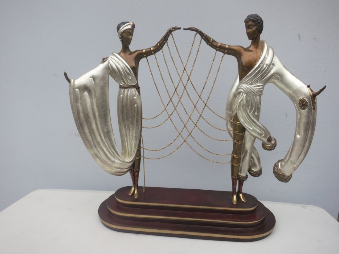Erte Polychromed Bronze Sculpture 1886