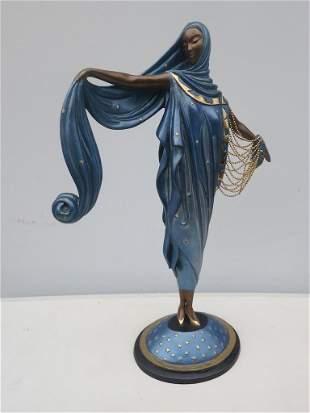 """Erte Bronze Sculpture """"Moonlight"""""""
