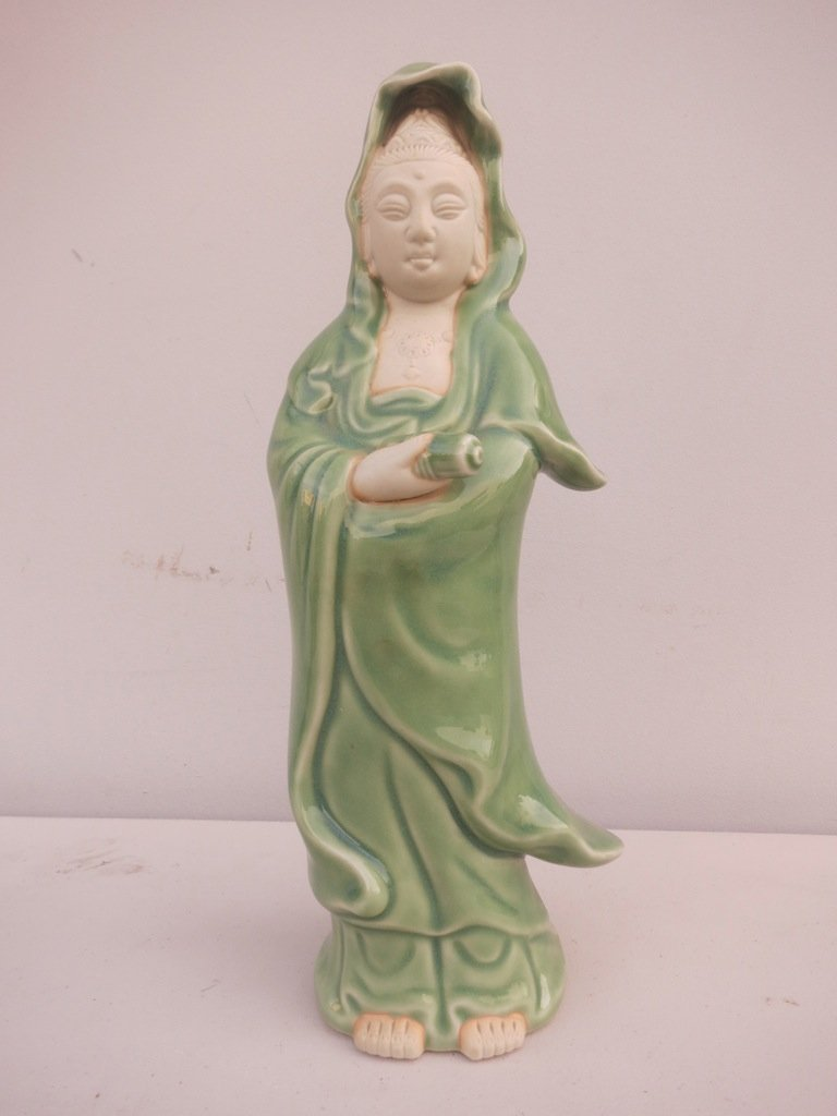 Chinese Porcelain Woman Quan Yin? Signed